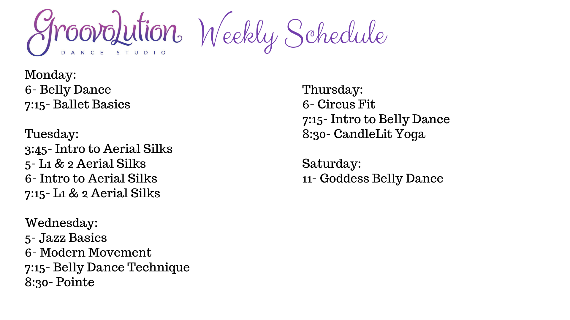 Copy of Weekly Schedule